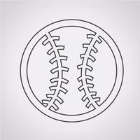 sinal de símbolo de ícone de beisebol vetor
