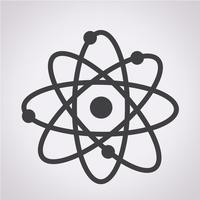 símbolo de ícone de átomo vetor