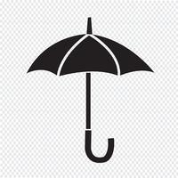 Sinal de símbolo de ícone de guarda-chuva vetor