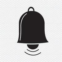 sinal de símbolo de ícone de sino vetor