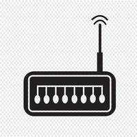 sinal de símbolo de ícone de roteador