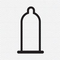 símbolo de ícone de preservativo vetor