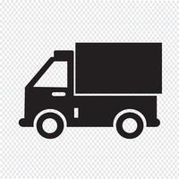 sinal de símbolo de ícone de caminhão vetor