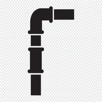 sinal de símbolo de ícone de tubos vetor
