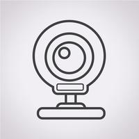 ícone de webcam sinal de símbolo vetor