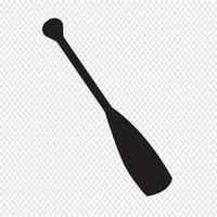 Sinal de símbolo de ícone de remo vetor