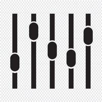 sinal de símbolo de ícone de equalizador vetor
