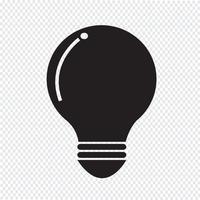 sinal de símbolo de ícone de lâmpada vetor