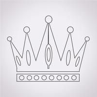 Coroa, ícone, símbolo, sinal vetor