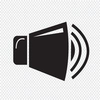 sinal de símbolo de ícone de alto-falante vetor
