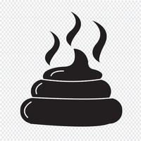 Sinal de símbolo do ícone de fezes vetor