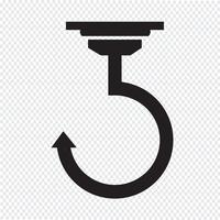 Gancho sinal de símbolo de ícone vetor