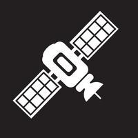 sinal de símbolo de ícone de satélite vetor