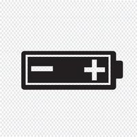 Sinal de símbolo de ícone de bateria vetor
