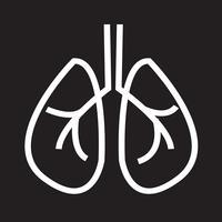 Sinal de símbolo de ícone de pulmões vetor