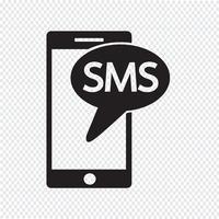 sms ícone símbolo sinal vetor