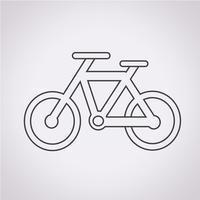 Sinal de símbolo de ícone de bicicleta vetor