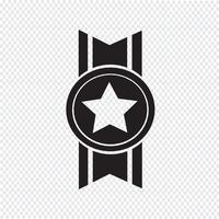 símbolo de ícone de medalha de símbolo vetor