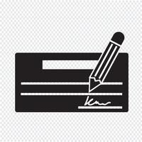 Verifique o ícone símbolo sinal vetor