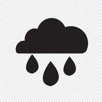 sinal de símbolo de ícone de chuva