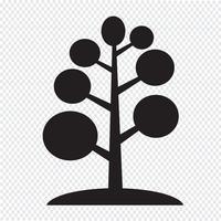 Sinal de símbolo de ícone de árvore vetor