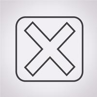 Sinal de símbolo de ícone de erro vetor
