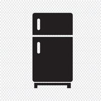 Sinal de símbolo de ícone de geladeira
