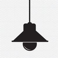 Sinal de ícone de lâmpada vetor