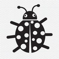 Sinal de símbolo de ícone de bug vetor