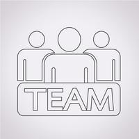 equipe ícone símbolo sinal vetor