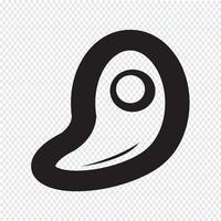 Sinal de símbolo de ícone de carne vetor