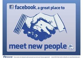 Facebook Conheça pessoas vetor