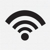 sinal de símbolo de ícone de Wi-Fi vetor