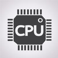Sinal de símbolo de ícone de CPU vetor