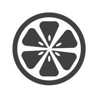 Sinal de símbolo ícone laranja vetor