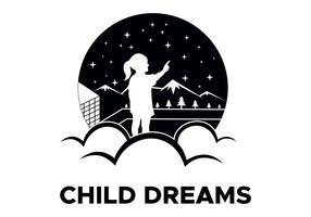 vetor de logotipo de sonhos de criança