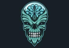 ilustração em vetor alienígena monstro