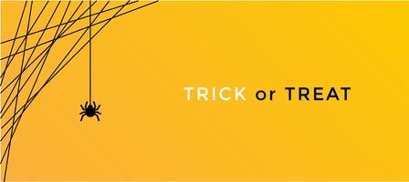 conceito de aranha do dia das bruxas. fundo de banner para a noite de festa de Halloween vetor