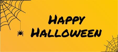 Ilustração do vetor do Dia das Bruxas no fundo amarelo.