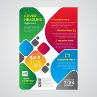 Design de folheto corporativo imobiliário colorido vetor