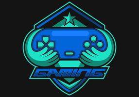 Logotipo do jogo do console e vetor dos esportes
