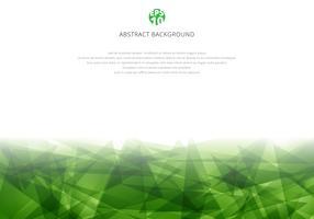 Sobreposição poligonal verde abstrata no fundo branco com espaço da cópia. Estilo moderno de triângulos geométricos vetor