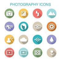 ícones de longa sombra de fotografia