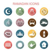 ícones de longa sombra do Ramadã