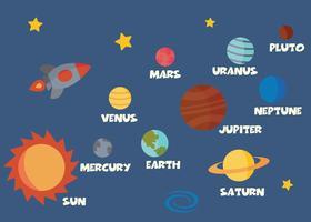 conceito do sistema solar vetor