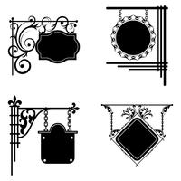 Conjunto de placas. Pode ser usado como um quadro, sinais de design e design. vetor