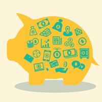 vetor de conceito de dinheiro