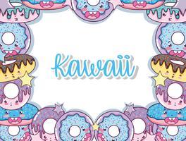 Desenhos animados bonitos de Kawaii vetor
