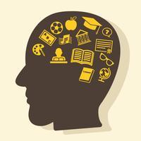pensando em educação vetor