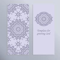 Cartão para o feriado. Belo design para o convite. vetor